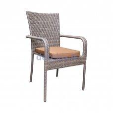Sodo kėdė Domoletti Mango, smėlio, 56x61x94 cm