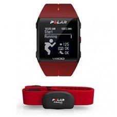 Sportinis laikrodis / pulsometras Polar V800 su HR diržu (raudonas)