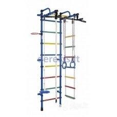 Sporto kompleksas (gimnastikos sienelė) LIRA mėlyna-vaivorykštė, 226x52,5cm