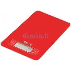 Virtuvinės svarstyklės SATURN ST-KS7235 Red