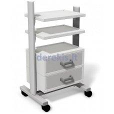 Stalas su ratukais medicininiams įrankiams Juventas STA 02