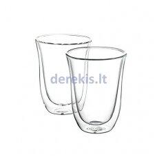Stiklinių puodelių rinkinys Delonghi 220 ml, 2 vnt