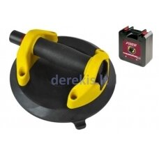 Suction cup with vacuum pump for flat surfaces, 20cm, max 100kg