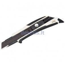 Sustiprintas gumuotas peilis su 18mm geležtėmis, auto-lock fiksatoriumi,Tajima Dora