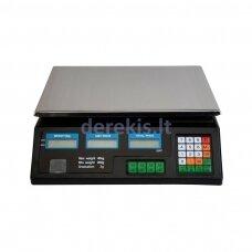 Svarstyklės su kainų skaičiavimo funkcija ir LCD ekranais
