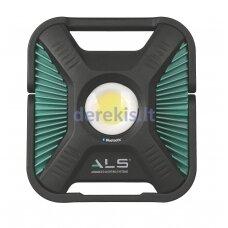 Šviestuvas - prožektorius ALS, didelio galingumo, kraunamas akum., + laidas 5m, atsparus smūgiams, Bluetooth valdymas, 1200-6000lm IP67