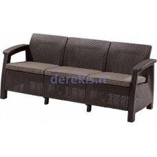 Trivietė sofa Keter CORFU LOVE SEAT MAX 223207 ruda