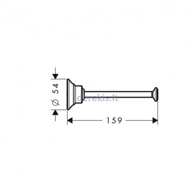 Tualetinio popieriaus laikiklis Hansgrohe AXOR Montreux 42028140 2