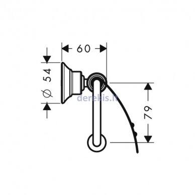 Tualetinio popieriaus laikiklis Hansgrohe AXOR Montreux 42036990 2