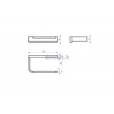 Tualetinio popieriaus laikiklis Rubineta EDELA (BK) 670102 3