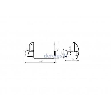 Tualetinio popieriaus laikiklis Rubineta ESTE 670113 4