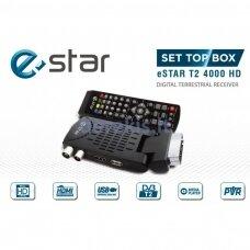 TV priedėlis eSTAR T2 4000 HD SCART, juodas