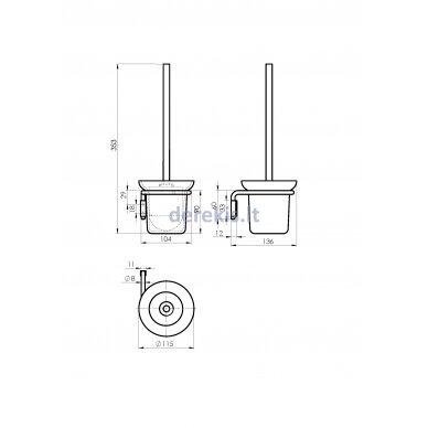Тualeto šepetys Rubineta MINI (BK) 670110 2