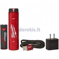 USB akumuliatorius ir įkroviklis Milwaukee L4 NRG-201