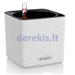 Vazonas su savaiminio drėkinimo sistema LECHUZA Cube Color 14 White, 13380