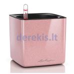Vazonas su savaiminio drėkinimo sistema LECHUZA Cube Glossy Kiss 14 cream highgloss, 13515