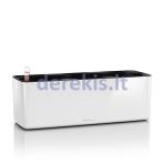 Trigubas vazonas su savaiminio drėkinimo sistema LECHUZA Cube Glossy Triple white, 13670