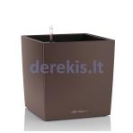 Vazonas su savaiminio drėkinimo sistema LECHUZA Cube Premium 50 espresso metallic, 16561
