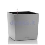 Vazonas su savaiminio drėkinimo sistema LECHUZA Cube Premium 50 silver metallic, 16568