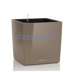 Vazonas su savaiminio drėkinimo sistema LECHUZA Cube Premium 50 taupe, 16565