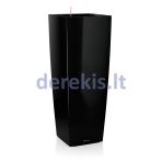 Vazonas su savaiminio drėkinimo sistema LECHUZA Cubico alto Premium 40 Black, 18239