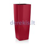 Vazonas su savaiminio drėkinimo sistema LECHUZA Cubico alto Premium 40 Scarlet Red, 18249