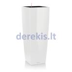 Vazonas su savaiminio drėkinimo sistema LECHUZA Cubico alto Premium 40 White, 18230