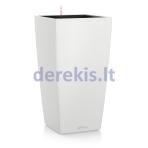 Vazonas su savaiminio drėkinimo sistema LECHUZA Cubico Color 30 White, 13130