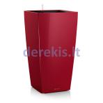 Vazonas su savaiminio drėkinimo sistema LECHUZA Cubico Premium 30 Scarlet Red, 18183