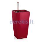 Vazonas su savaiminio drėkinimo sistema LECHUZA Maxi Cubi Premium 14 scarlet red, 18051