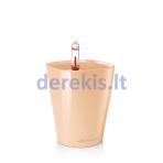 Vazonas su savaiminio drėkinimo sistema LECHUZA Mini Deltini Premium Apricot, 14956