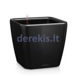 Vazonas su savaiminio drėkinimo sistema LECHUZA Quadro Premium 28 Black, 16149