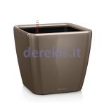 Vazonas su savaiminio drėkinimo sistema LECHUZA Quadro Premium 28 Taupe, 16145