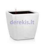 Vazonas su savaiminio drėkinimo sistema LECHUZA Quadro Premium 28 White, 16140