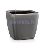 Vazonas su savaiminio drėkinimo sistema LECHUZA Quadro Premium 43 Charcoal, 16183