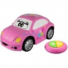 Valdomas automobilis BB Junior Volkswagen Easy Play, rožinis, 16-92003