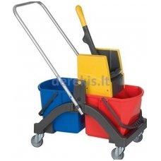 Valytojo vežimėlis Vermop 614392, 2 x 17L