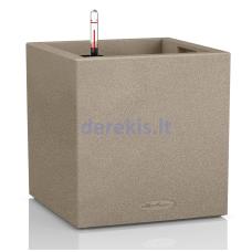 Vazonas su savaiminio drėkinimo sistema LECHUZA Canto Color Cube 30 beige, 13701