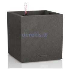 Vazonas su savaiminio drėkinimo sistema LECHUZA Canto Color Cube 30 black, 13702