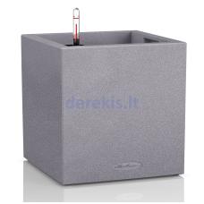 Vazonas su savaiminio drėkinimo sistema LECHUZA Canto Color Cube 40 gray, 13720