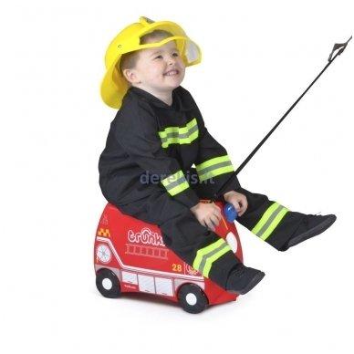 Vaikiškas lagaminas TRUNKI FRANK THE FIRE TRUCK 4