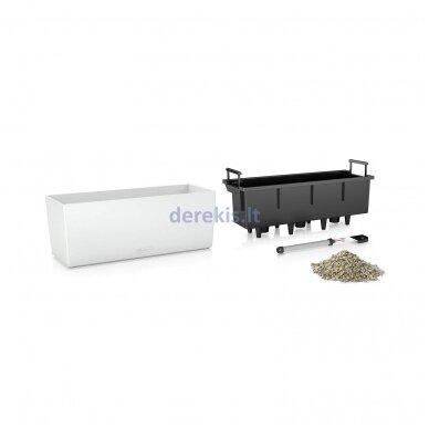 Vazonas su savaiminio drėkinimo sistema LECHUZA Balconera Color 50 White, 15670 2