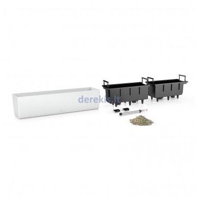 Vazonas su savaiminio drėkinimo sistema LECHUZA Balconera Color 80 White, 15680 2