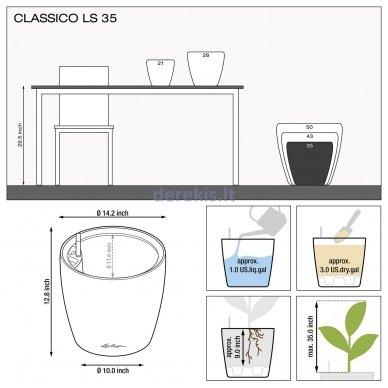 Vazonas su savaiminio drėkinimo sistema LECHUZA Classico Premium 43 Charcoal, 16083 8