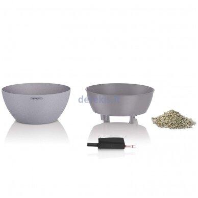 Vazonas su savaiminio drėkinimo sistema LECHUZA Cubeto Color 40 stone gray, 13840 2