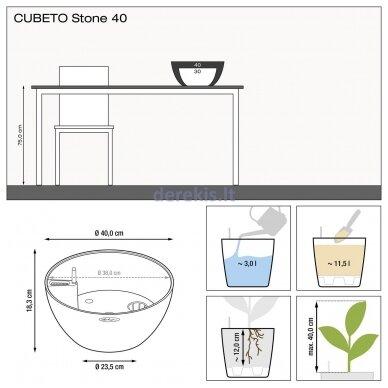Vazonas su savaiminio drėkinimo sistema LECHUZA Cubeto Color 40 stone gray, 13840 9