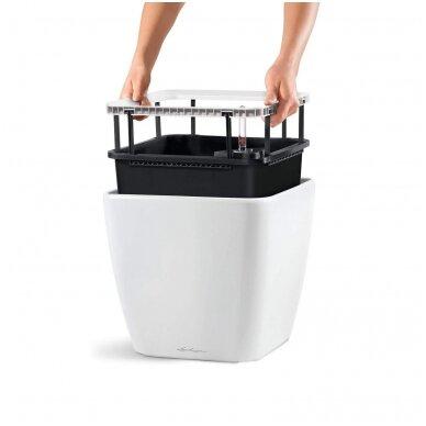Vazonas su savaiminio drėkinimo sistema LECHUZA Quadro Premium 43 Silver, 16188 3