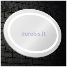 Veidrodis su LED apšvietimu Blu LEON Oval
