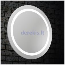 Veidrodis su LED apšvietimu Blu LEON Round