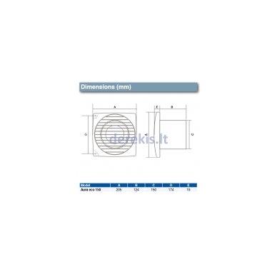 Ventiliarorius su laiko ir drėgmės moduliu Airflow Aura Eco 150HT 2